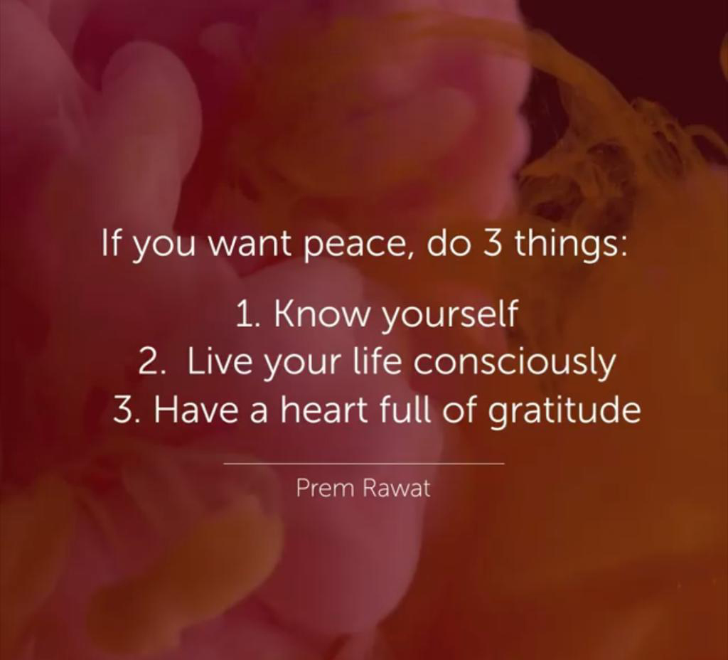 Prem Rawat, la pace in 3 passi